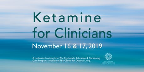 Ketamine for Clinicians tickets