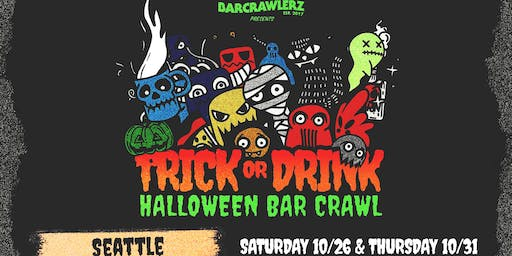 Trick or Drink: Seattle Halloween Bar Crawl (2 Days)