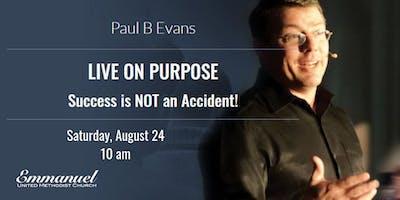Paul B Evans, international speaker & author, at Emmanuel