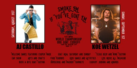 46th Annual World Championship BBQ Goat Cookoff tickets