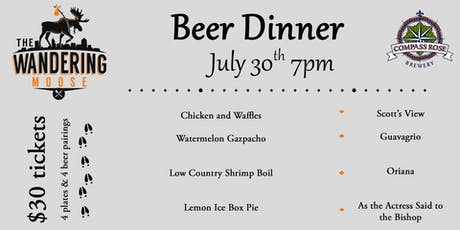 Wandering Moose Beer Dinner  tickets