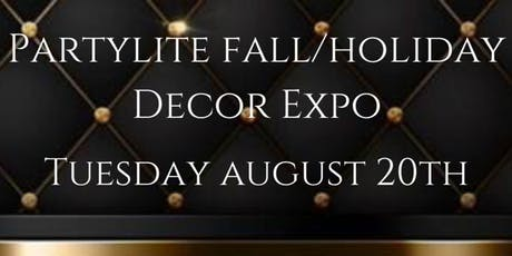 PartyLite Fall & Holiday Decor Expo Launch billets