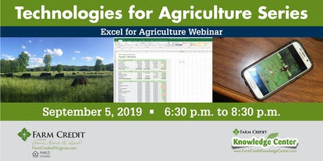 Excel for Agriculture Webinar tickets