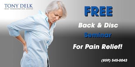 Tony Delk Center Back and Disc Pain Seminar - 7/24 tickets
