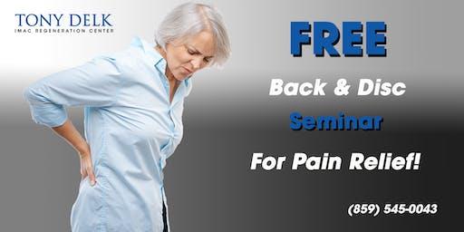 Tony Delk Center Back and Disc Pain Seminar - 7/24
