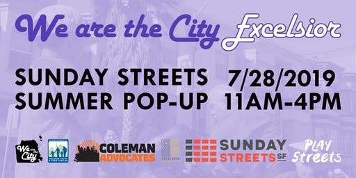 We Are the City Excelsior: Sunday Streets Pop-Up