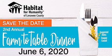 Habitat Lenawee Farm to Table Dinner tickets