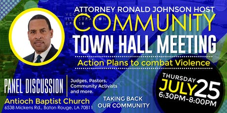 Community Town Hall Meeting addressing Violence tickets