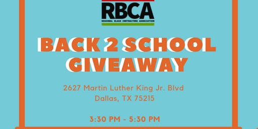 RBCA Back To School Giveaway