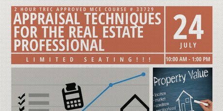 Appraisal Techniques for the Real Estate Professional tickets