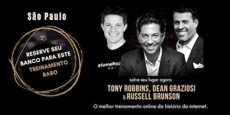 TONY ROBBINS, DEAN GRAZIOSI & RUSSELL BRUNSON (São Paulo) PORTUGUÊS ingressos