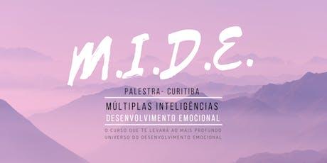 Palestra MIDE 2 - Múltiplas Inteligências e Desenvolvimento Emocional 31/07 ingressos