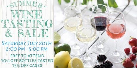 Summer Wine Tasting & Sale tickets