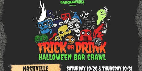 Trick or Drink: Nashville Halloween Bar Crawl (2 Days) tickets