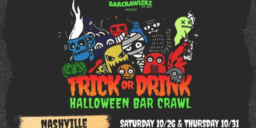 Trick or Drink: Nashville Halloween Bar Crawl (2 Days)
