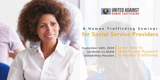 A Human Trafficking Seminar for Social Service Providers