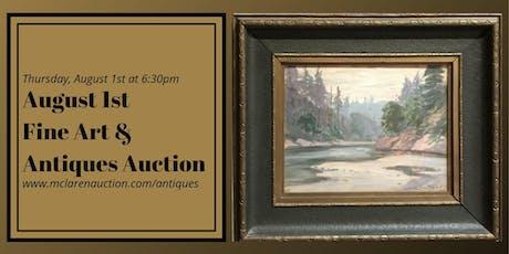 August 1st Fine Art & Antiques Auction tickets