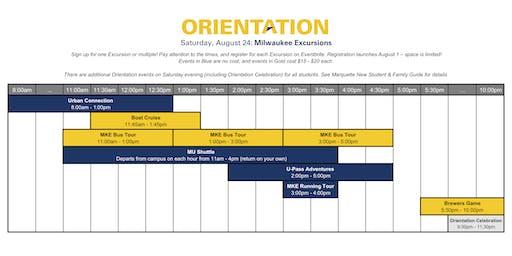 Marquette Orientation 2019 - Milwaukee Excursions
