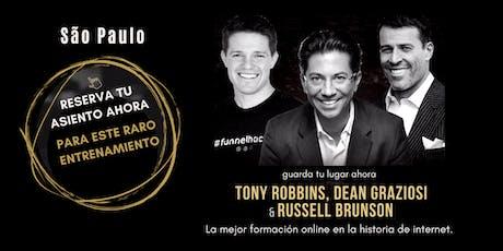 TONY ROBBINS, DEAN GRAZIOSI & RUSSELL BRUNSON (São Paulo) ESPAÑOL ingressos