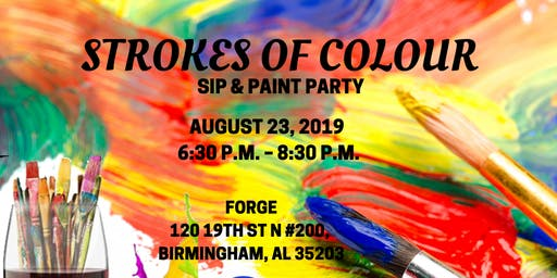 Strokes of Colour Sip & Paint Party