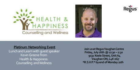 Networking Lunch and Learn with Kevin Greene from Health & Happiness tickets