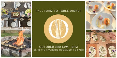 Fall Farm To Table Dinner at Olivette tickets