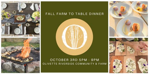 Fall Farm To Table Dinner at Olivette
