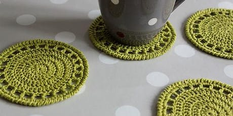 Crochet a Coaster & Washcloth. Adults Only Workshop. tickets