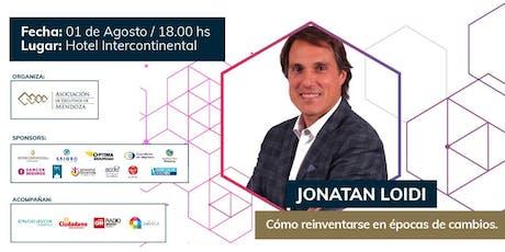 Jonatan Loidi en Mendoza entradas