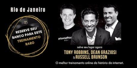 TONY ROBBINS, DEAN GRAZIOSI & RUSSELL BRUNSON (Rio de Janeiro) ingressos