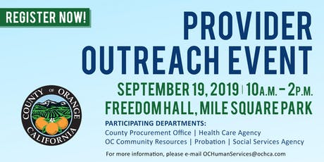 Orange County Human Services Provider Outreach Event tickets