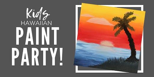 Hawaiian Kids Paint Party!