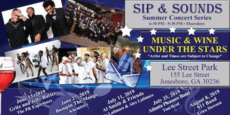Sip & Sounds July 25, 2019 at 6:30 p.m.  tickets
