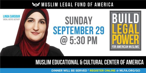 Build Legal Power for American Muslims with Linda Sarsour - Willowbrook, IL