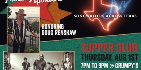 Songwriters Across Texas Supper Club Honoring Doug Renshaw tickets