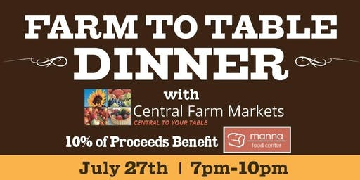 Farm To Table Dinner: 2019 Farm Tour