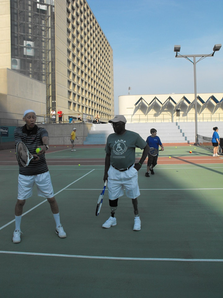First Volley Adaptive Standing Tennis Clinic  with UTSW image
