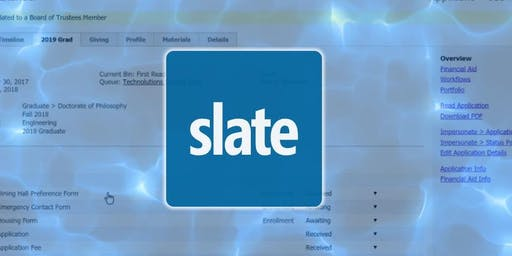 Slate Application System Training