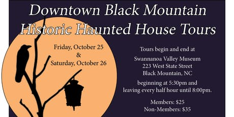 Historic Haunted House Tours – Downtown Black Mountain tickets