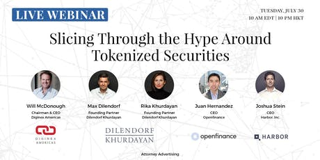 Slicing Through the Hype Around Tokenized Securities   Live Webinar   Copenhagen, Denmark tickets