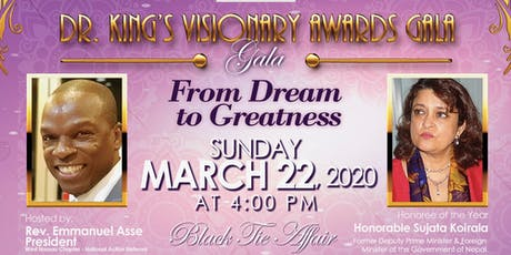 Dr. King's Visionary Award Gala tickets