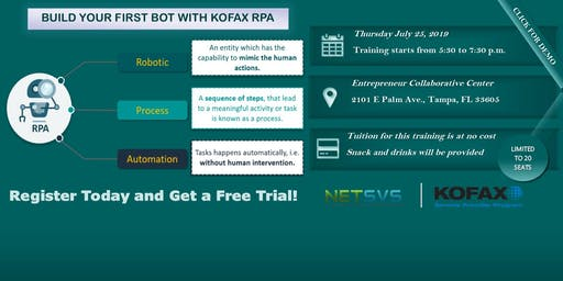 BUILD YOUR FIRST BOT WITH KOFAX RPA
