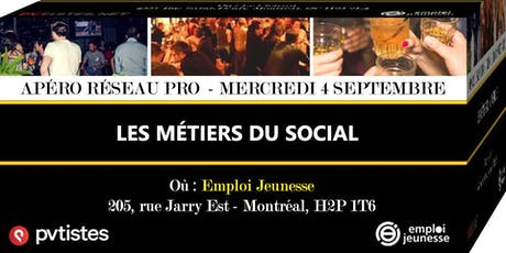 Apéro Réseau Pro - Les métiers du social billets