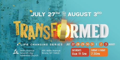 Transformed ; A Life Changing Series tickets