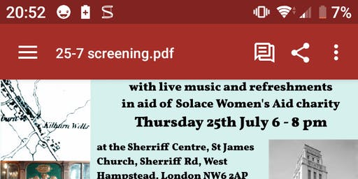 Free  film screening The stream that unites Kilburn