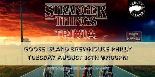 Stranger Things Trivia at Goose Island Brewhouse