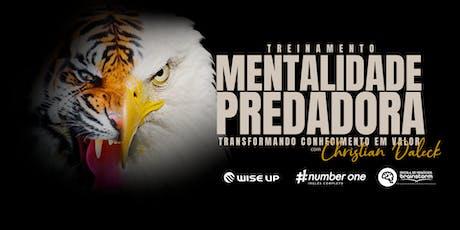 Mentalidade Predadora - Transformando conhecimento ingressos