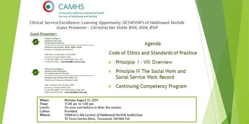 Clinical Service Excellence: Learning OpportunityOCSWSSW's of HN