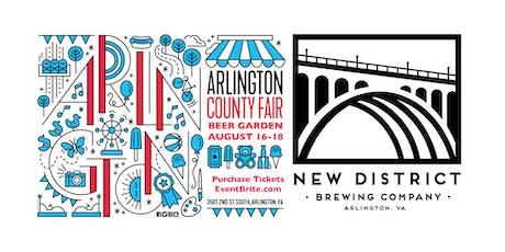 Arlington County Fair New District Brewery Beer Garden tickets