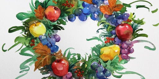 Watercolor Workshop: della Robbia Wreath
